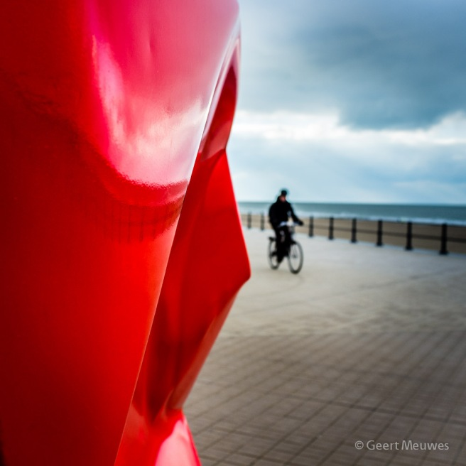 Eenzame fietser à la Bresson